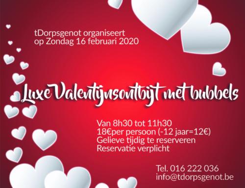 Valentijnsontbijt 16 februari 2020